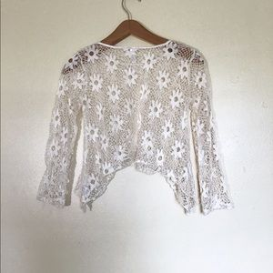 Beautees | Lace Knit Crop Top